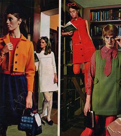 60s fashion : colour everywhere !