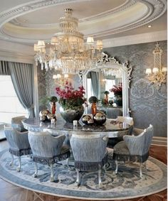Dining Room...Beautiful in Blue