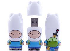 Finn - Adventure Time *NEW STUFF (Contenido exclusivo dentro del mismo; vídeos, sonidos, fotografías) - Memoria USB 8 Gb