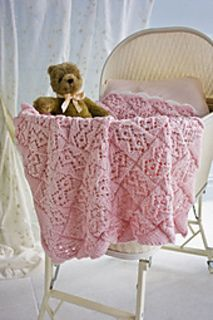 Sweet Dreams Baby Blanket pattern by Rosemary Drysdale Entrelac Knitted Baby Blankets, Baby Blanket Crochet, Crochet Baby, Knit Or Crochet, Lace Knitting, Sweet Dreams Baby, Knitting Designs, Knitting Patterns, Baby Afghans