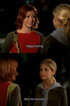Happy Hunting: Buffy And Willow From Buffy The Vampire Slayer i just watched that episode last night Buffy Summers, Sarah Michelle Gellar, Joss Whedon, Alyson Hannigan, First Girl, Thing 1, Our Lady, Best Shows Ever, Best Tv