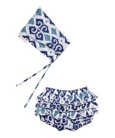 Love this Indigo Ikat Bloomers & Pouch - Infant by Masala Baby on #zulily! #zulilyfinds