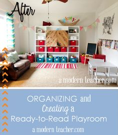 Organizing and Creating a Playroom via www.amodernteacher.com