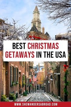 Are you looking for the best places to spend Christmas in the United States? Click here to read more about the best Christmas vacations in the USA! #christmas #usa #shewandersabroad | USA Travel Tips | USA Christmas Family Vacation Destinations | Christmas Travel USA | Best Christmas Vacation Destinations in the USA | USA Christmas towns | Christmas Getaways in the United States | USA December Vacation Ideas | Where to Celebrate Christmas in the USA | Best Places to Visit in December in the… Christmas Family Vacation, Best Christmas Vacations, Christmas Destinations, Christmas Getaways, Christmas Travel, Family Vacation Destinations, Holiday Travel, Travel Usa, Travel Tips