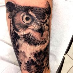 owl tattoo by Buzuca
