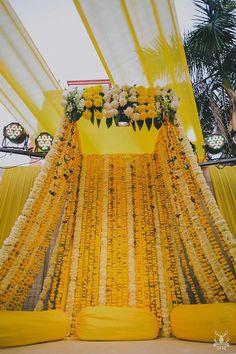 Delhi wedding with gorgeous wedding decor - Delhi wedding with gorgeous wedding decor Si - Desi Wedding Decor, Wedding Hall Decorations, Marriage Decoration, Wedding Mandap, Backdrop Decorations, India Wedding, Wedding Themes, Wedding Ideas, Trendy Wedding