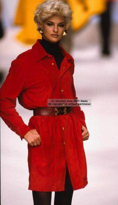 Linda Evangelista: Gianfranco Ferre' for Dior' 1991'