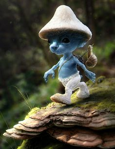 This would have made a much cooler movie. Real Life Smurf Digital Image.