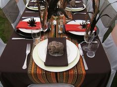 Red and brown south african decor wedding styles south africa and african themed bathroom accessories tropical g junglespirit Images
