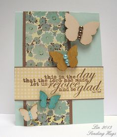 Created by Lin for the Simon Says Stamp Challenge Things With Wings. 2013