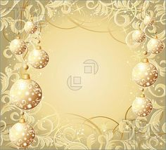 Illustration of Christmas background with balls, stars and snowflakes