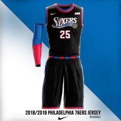 Philadelphia 76ers 2018/19 Jersey Concept @nba | @sixers | @nike - tag a friend below - follow me @rp.visuals for more Logo Basketball, Basketball Uniforms, Basketball Jersey, Best Jersey, Sports Jerseys, Philadelphia, Concept Art, Miami, Photoshop