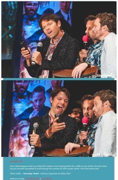 Misha Collins - Saturday Panel - Salute to Supernatural #Dallas 2015 credits @amyshaped or grumpyjackles ^_^ ... LMAO OHH Misha