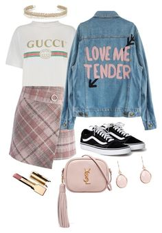 """""""Love me tender #204"""" by mroselagger ❤ liked on Polyvore featuring Gucci, Chicwish, Yves Saint Laurent, Clarins and Maison Margiela"""