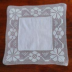 Crochet Doily Diagram, Filet Crochet, Crochet Doilies, Crochet Stitches, Crochet Boarders, Crochet Squares, Crochet Tablecloth, Pattern Library, Crochet Art