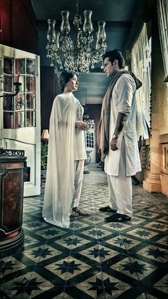 #HumayunSaeed with co star #MehwishHayat in upcoming TV serial #Dillagi