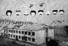 School No1 in Beslan, Russia, days after the siege. Drawings in this project are from survivors, and have been integrated into photos of the hostage location | Beslan Chechnya Russia