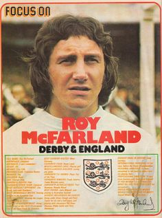 Focus On with Derby County & England defender Roy McFarland in Shoot! magazine in 1974.