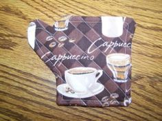 coffee quilted coaster. a nice project to make