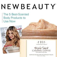 """It's #NationalCoffeeDay ☕️ and we're celebrating with our Triple Shot Caramel Coffee Scrub!!! @newbeauty has dubbed this whipped delight among 5 of the best-scented body products to use now! We love it so much we're giving you $5 off the purchase of Triple Shot at farmhousefreshgoods.com - link in bio - just use the coupon code """"coffee"""" - today only! Get your caffeine fix now and scrub away the day! #caffeine #coffee #thirstythursday"""