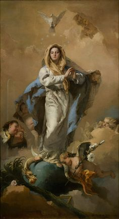 https://flic.kr/p/9s4wCk | Giambattista Tiepolo - The Immaculate Conception [1767-69] | Giovanni Battista Tiepolo (March 5, 1696 – March 27, 1770) was an Italian painter and printmaker from the Republic of Venice. He was prolific, and worked not only in Italy, but also in Germany and Spain. While his painting is infused with the Venetian spirit, his luminosity is not seen in the previous masters; however, Tiepolo is considered the last Olympian painter of the Venetian Republic. Like Titian…