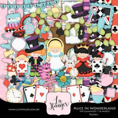 Kit Digital Alice in Wonderland by Lu Ifanger