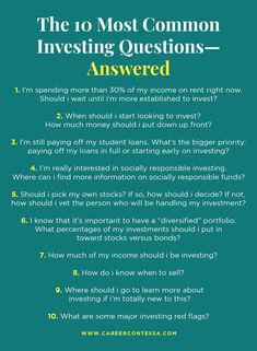Got burning questions about investing? Are you too embarrassed to ask them? Here's some answers to the toughest questions on investing, especially when you're just starting out. Dumb Questions, Burning Questions, Ask For A Raise, Finding A New Job, Best Careers, Wealth Management, Work Life Balance, Career Development, Student Loans