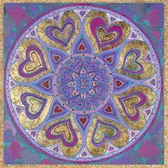 ⊰❁⊱ Mandala ⊰❁⊱ Besos de Amor Mandala por Paul Heussenstamm