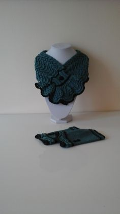 This is one of my original designs, hand knitted using merino wool. The scarf and hand warmers are edged in black which helps to give them a true 'Vintage' look. Hand Warmers, Vintage Looks, Knits, Merino Wool, Hand Knitting, The Originals, Blue, Design, Fashion