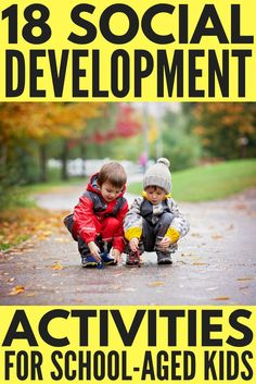 Looking for social development activities to help aid with early childhood development? We've got you covered. With 18 fun learning activities to choose from, this collection of ideas will help improve social skills for preschool, kindergarten, and school Social Emotional Activities, Social Skills Autism, Communication Activities, Social Emotional Development, Teaching Social Skills, Child Development Activities, School Age Activities, Counseling Activities, Activities For Kids
