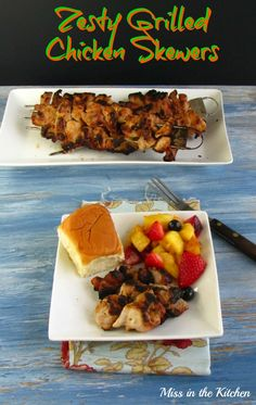 Zesty Grilled Chicken Skewers from @Melissa Squires Henson in the Kitchen | Milisa