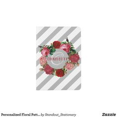 Personalized Floral Pattern Monogram Name Passport Holder Passport Holders, Passport Wallet, Travel Style, Monogram, Cover, Floral, Pattern, Design, Flowers