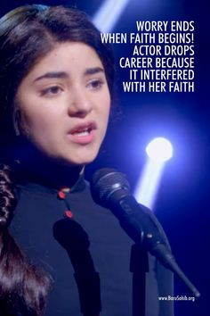 Worry ends when Faith begins! Actor drops career because it interfered with her faith. Actor Zaira Wasim received a lot of fame for her debut in Aamir. Zaira Wasim, National Film Awards, Aamir Khan, No Worries, Superstar, Career, Spirituality, Faith, Number