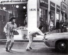 """I'm walkin' here. I'm walkin' here."" ""Ratso"" Rizzo Dustin Hoffman Midnight Cowboy 1969"