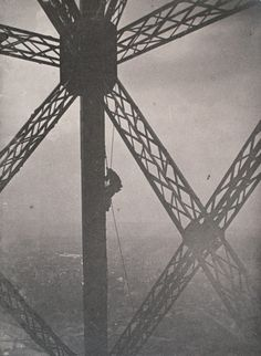 Painter on a Rope, The Eiffel Tower by Henri Rivière, 1889