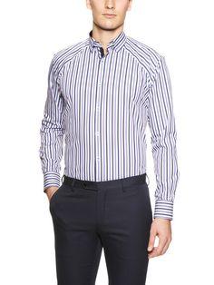 Rome Textured Stripe Sport Shirt by Stone Rose on Gilt.com