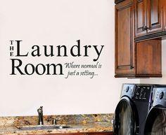 Laundry Room Humorous Wall Stencil WW219 by WalltoWallStencils, $28.00