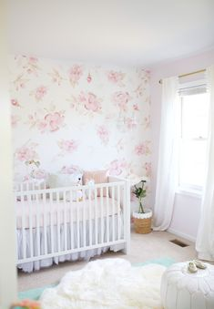 Sharing Harlow's floral nursery and the most fabulous pieces from the Room&Board children's collection | Heart of Chic