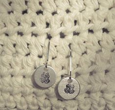 Handstamped Butterfly Earrings by sassyfrassx3 on Etsy