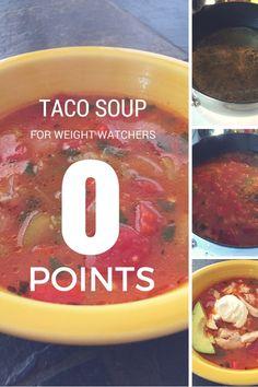 Weight watcher's Zero Point Taco Soup