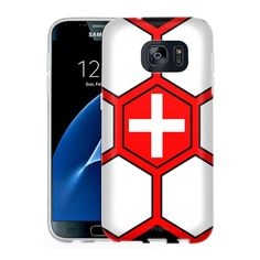 Samsung Galaxy S7 Soccer Ball Switzerland Flag Slim Case