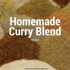 Why not make your own curry spice blend at home? Skip the middle man! Spice blends can be expensive. Homemade Curry Spice Mix. DIY Curry…