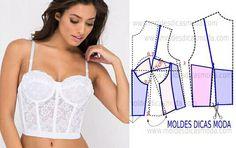 Corset Sewing Pattern, Bra Pattern, Dress Sewing Patterns, Clothing Patterns, Diy Corset, White Corset, Underwear Pattern, Lingerie Patterns, Fashion Sewing