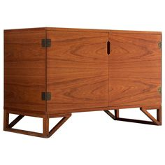 Teak Cabinet by Svend Langkilde   From a unique collection of antique and modern cupboards at https://www.1stdibs.com/furniture/storage-case-pieces/cupboards/