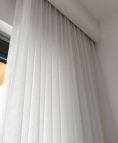 Sheer curtains with bulkhead to conceal the rails