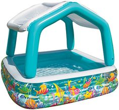 Water Gear Inflatable Shade Canopy Child Kiddie Swimming Pool Toddler Baby Kids