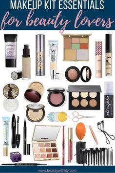 Makeup Kit Essentials For Beauty Lovers // Makeup Starter Kit for Intermediates Make Up Kits, It Cosmetics, Beginner Makeup Kit, Makeup Tips For Beginners, Full Makeup, Beauty Makeup, Basic Makeup, Unique Makeup, Cheap Makeup