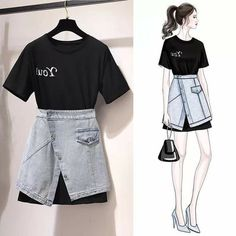 Teen Fashion Outfits, Kpop Outfits, Kpop Fashion, Mode Outfits, Cute Fashion, Asian Fashion, Trendy Outfits, Girl Fashion, Fashion Drawing Dresses