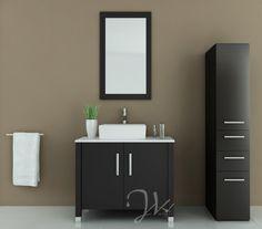jwh living gemini 35 5 in single bathroom vanity Ikea Bathroom Sinks, Bathroom Niche, Best Bathroom Vanities, Modern Master Bathroom, Bathroom Vanity Cabinets, Bathroom Ideas, Ikea Vanity, Stone Bathroom, Bathroom Black