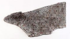 Matthew Picton's Map Sculptures of Cities Made of Books about the City – Brain Pickings
